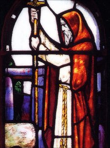 Stained Glass Window of St Ninian
